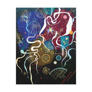 Toile Wassily Kandinsky - art abstrait du mouvement un