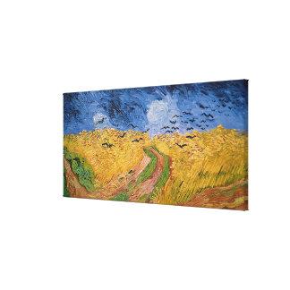 Toile Wheatfield de Vincent van Gogh | avec des