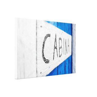 Toile White and blue door
