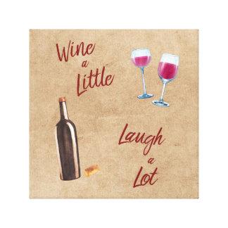 Toile Wine un peu d'art de mur de citation de rire