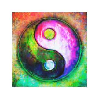 Toile Yin Yang - Colorful Painting I