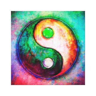 Toile Yin Yang - Colorful Painting II