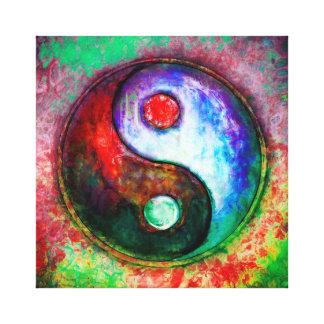 Toile Yin Yang - Colorful Painting III