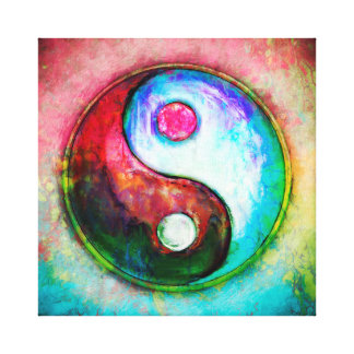 Toile Yin Yang - Colorful Painting IV