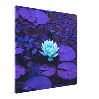 Toile Zen pourpre d'étang de turquoise de fleur de Lotus