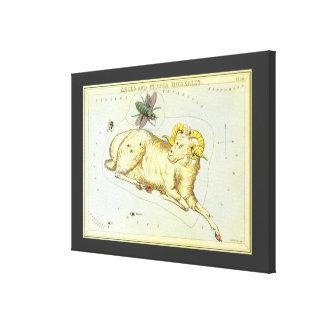 Toile Zodiaque vintage, constellation de RAM de Bélier