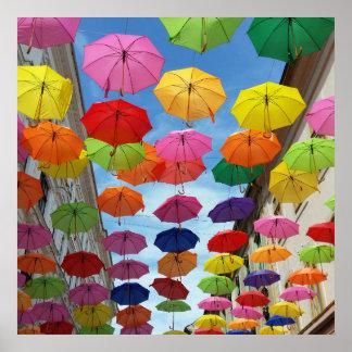 Toit des parapluies posters