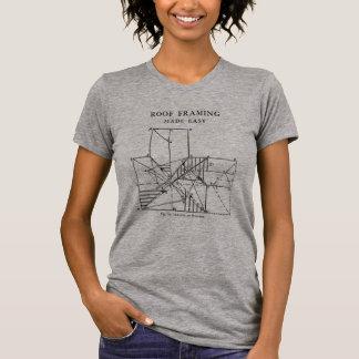 Toit encadrant les femmes faciles faites t-shirt