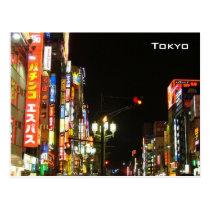 Tokyo par nuit carte postale