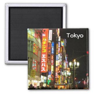 Tokyo par nuit magnet carré