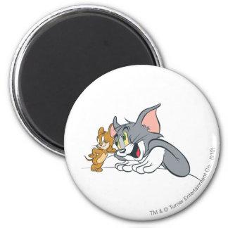 Tom et bourgeons de Jerry les meilleurs Magnet Rond 8 Cm