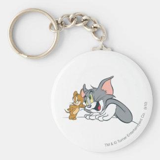 Tom et bourgeons de Jerry les meilleurs Porte-clé Rond