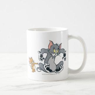 Tom et chat noir de patte de Jerry Mug Blanc