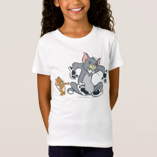 Tom et chat noir de patte de Jerry T-Shirt
