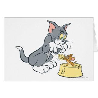 Tom et Jerry alimentent le chat Cartes