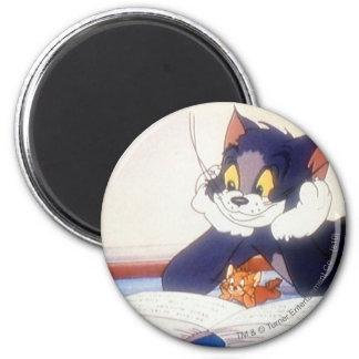 Tom et Jerry ont lu un livre Magnets Pour Réfrigérateur