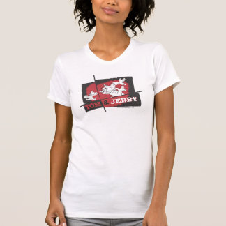 Tom et Jerry rouges et noirs T-shirts