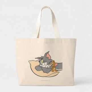 Tom et Jerry sur le coussin Sac En Toile Jumbo