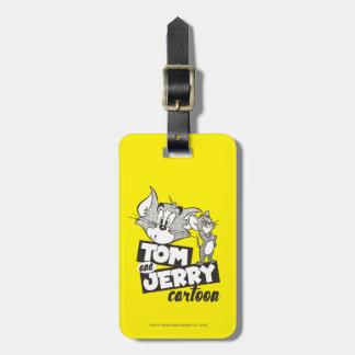 Tom et Jerry | Tom et bande dessinée de Jerry Étiquette À Bagage