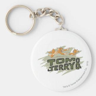 Tom et logo de chasse de Jerry Porte-clé Rond
