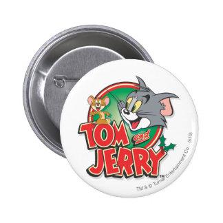 Tom et logo de classique de Jerry Badge Rond 5 Cm