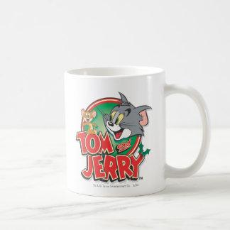 Tom et logo de classique de Jerry Mug Blanc