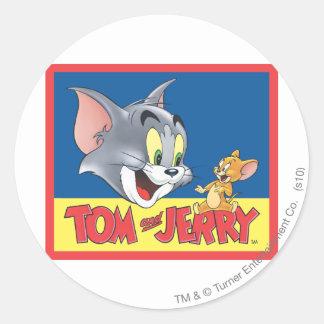 Tom et logo de Jerry ombragé Sticker Rond