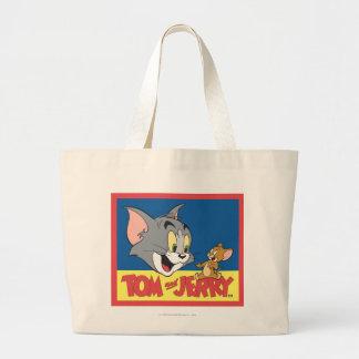 Tom et logo de Jerry plat Grand Sac