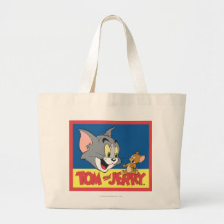 Tom et logo de Jerry plat Sac En Toile Jumbo