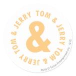 Tom et logo rond 6 de Jerry autocollants