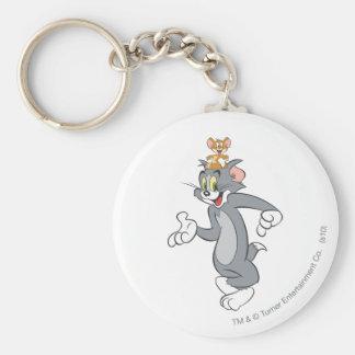 Tom et paires de Jerry Porte-clé Rond