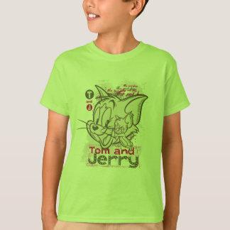 Tom et rose et vert de Jerry T-shirt