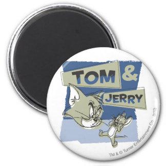 Tom et souris de Jerry Scaredey Magnet Rond 8 Cm
