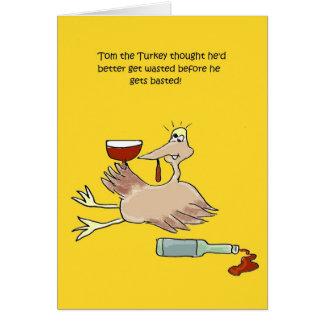 Tom la Turquie obtient la carte drôle gaspillée de