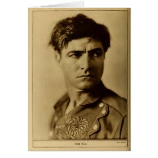 Tom Mix 1926 cinémas muets rocailleux de portrait Cartes