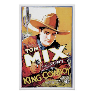 Tom Mix - le Roi Cowboy Poster Posters