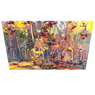 Tom Thomson peignant, jeunes arbres d'érable Toiles