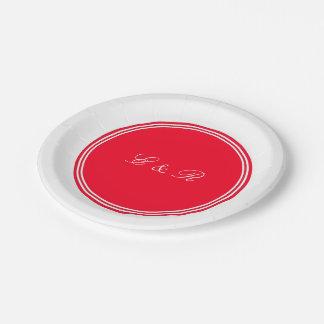 Tomate-cerise rouge lumineuse - le printemps assiettes en papier