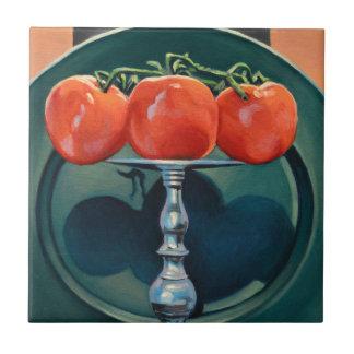 Tomate et ail carreau
