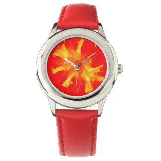 Tomate rouge flamboyante d'art de bruit montres