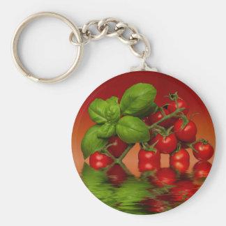 Tomates cerise rouges Basil Porte-clés