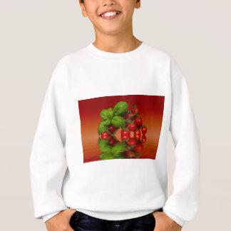 Tomates cerise rouges Basil Sweatshirt