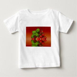 Tomates cerise rouges Basil T-shirt Pour Bébé