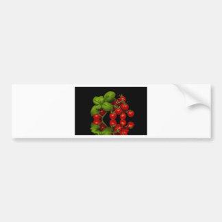 Tomates cerise rouges fraîches autocollant de voiture