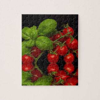 Tomates cerise rouges fraîches puzzle