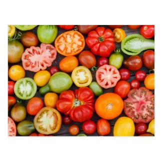 Tomates colorées carte postale