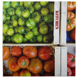 Tomates de couleurs serviettes de table