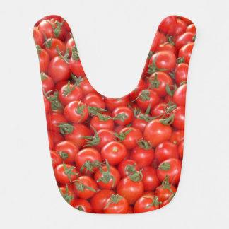 Tomates rouges de vigne bavoir pour bébé