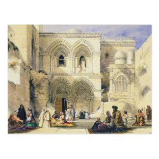 Tombe sainte, à Jérusalem (litho de couleur) Carte Postale