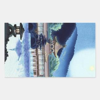 Tombeau frais de Tokuriki Heian de Japonais à Kyot Sticker Rectangulaire